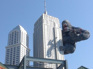Rolled Steel Beam Structure Gorilla at Myrtle Beach Wax Museum (Finished)